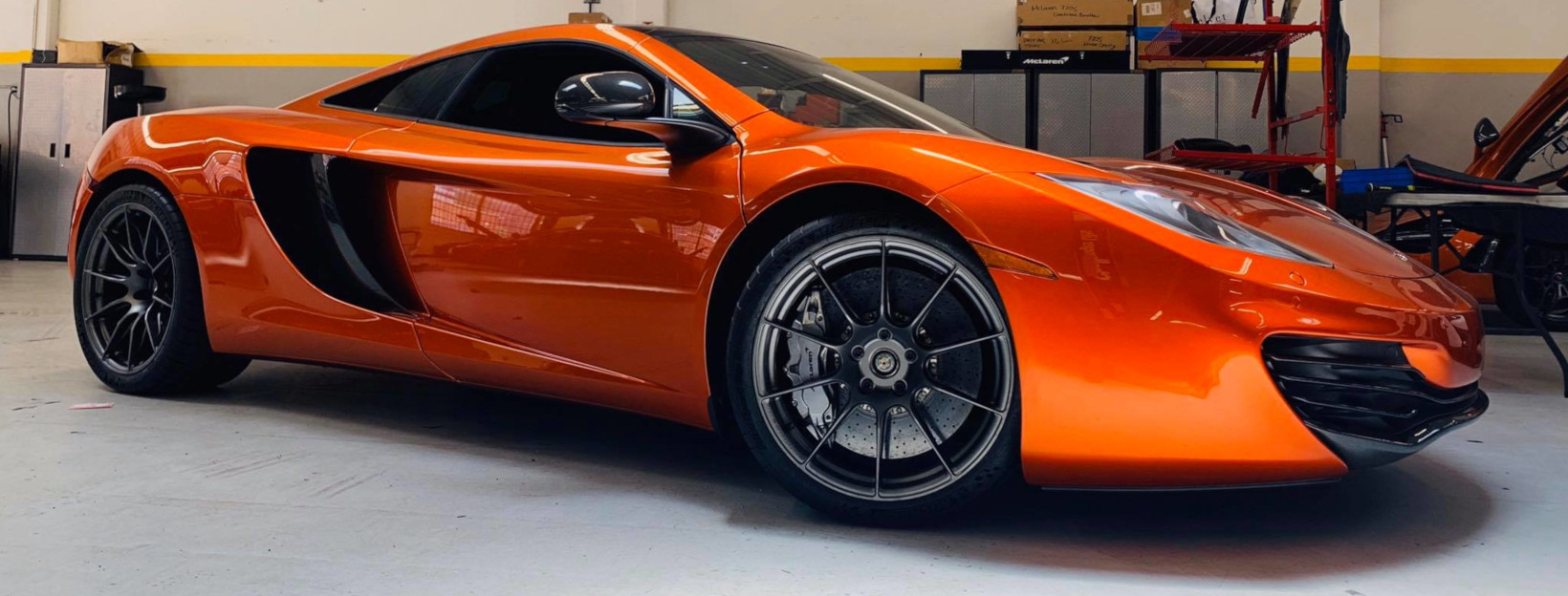 McLaren 12C Monoblock Forged Motorsports Wheels Finspeed F100 Satin Charcoal